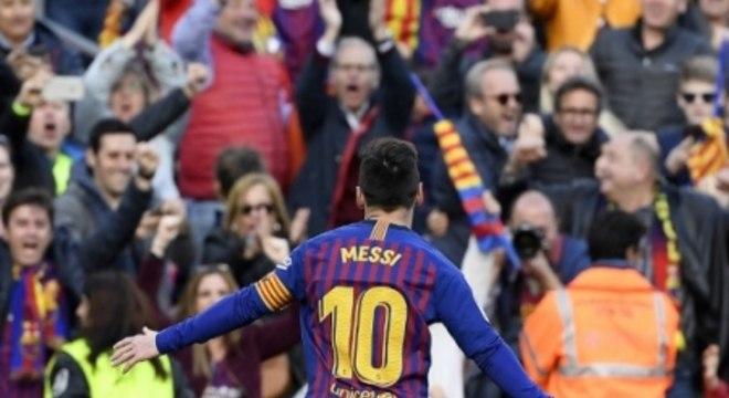 Messi - Barcelona x Espanyol