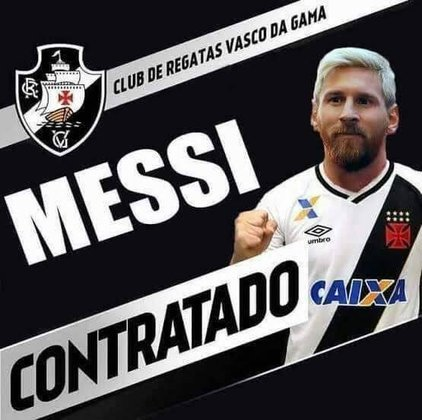 Messi com a camisa do Vasco