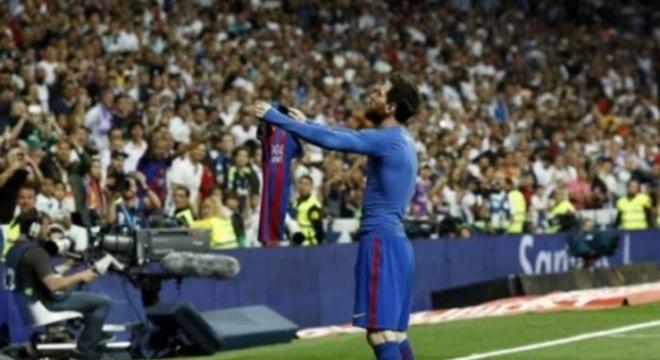Messi comemora seu gol