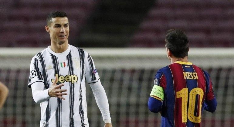 Depois de 16 anos, Messi e Cristiano Ronaldo estão fora das quartas de final da Champions