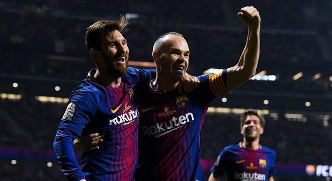 Messi e Iniesta formaram dupla vitoriosa na Espanha d805d08a55812