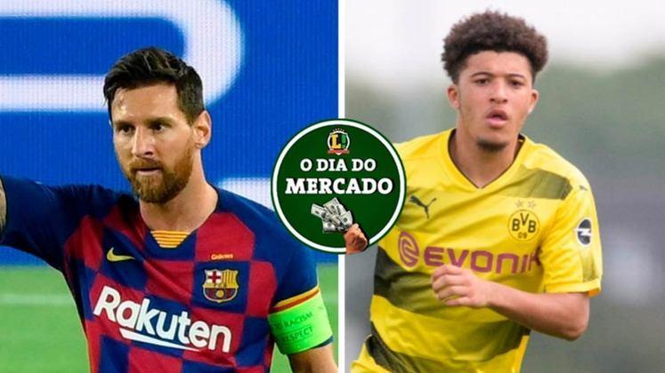 Messi está com a sua situação encaminhada no Barcelona e muito perto de um acerto sobre o seu futuro. Clube da Inglaterra entra na briga por Jadon Sancho e promete fazer jogo duro pelo ponta. Tudo isso e muito mais no Dia do Mercado de terça-feira.