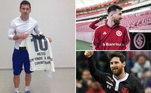 As notícias sobre a saída de Messi do Barcelona agitaram a internet e os torcedores do mundo publicaram fotos do sonho do craque vestindo a camisa de seus clubes do coração