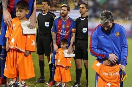 Murtaza conheceu Messi em jogo no Catar, em 2016