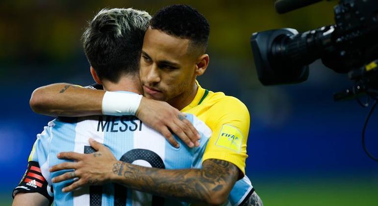 Rivais neste sábado, Messi e Neymar são muito amigos