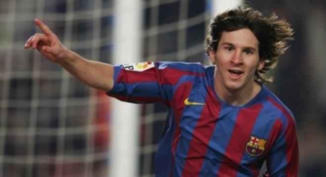 Messi estreou no Barça em 2004