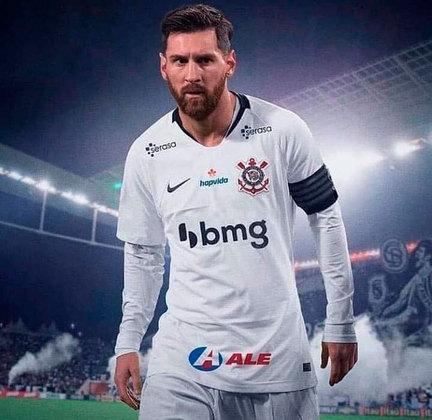 Messi no Timão bombou nas redes sociais