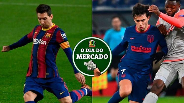 Messi pode estar a caminho do PSG e João Félix chama a atenção de gigantes italianos. Veja essas e outras, no Dia do Mercado desta terça-feira! (por Redação São Paulo)