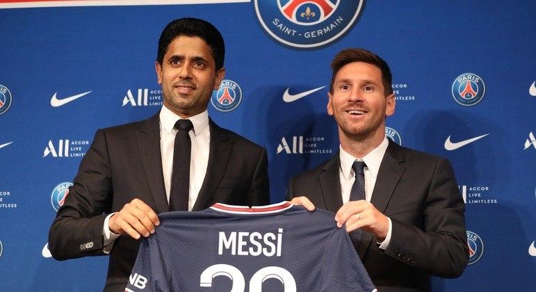 Messi foi apresentado como novo jogador do PSG