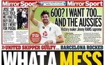 Na Inglaterra, o jornal Mirror trouxe Messi ao lado deHarry Maguire com a frase: 'Que bagunça'
