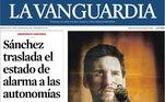 O Jornal La Vanguarda colocou um garotinho tocando a imagem de Messi, mostrando o carinho da Catalunha pelo camisa 10. No título: Messi se despede do Barcelona por Burofax