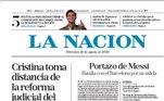 O La Nacion colocou a capa das temporadas de Messi com a frase: 'A porta batida de Messi' e complementou: 'Batalha com o Barcelona por sua saída'