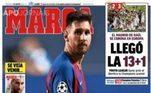 Já o Marca, colocou: 'Explodiu a bomba': Messi enviou um 'burofax' pedindo para sair do Barça, de acordo com uma cláusula em seu contrato