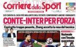 O Corriere dello Sport disse: Messi choca com 'Saio do Barcelona'