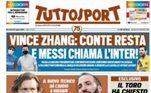 Já o TuttoSport, colocou a Inter de Milão como destino:'Messi chama a Inter'