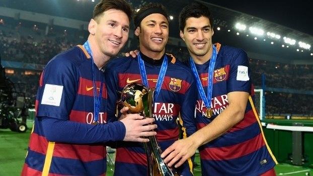 Messi Suárez e Neymar. 364 gols. Melhor ataque do Barcelona não se juntará mais