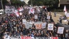Metroviários protestam em SP em véspera de greve da categoria