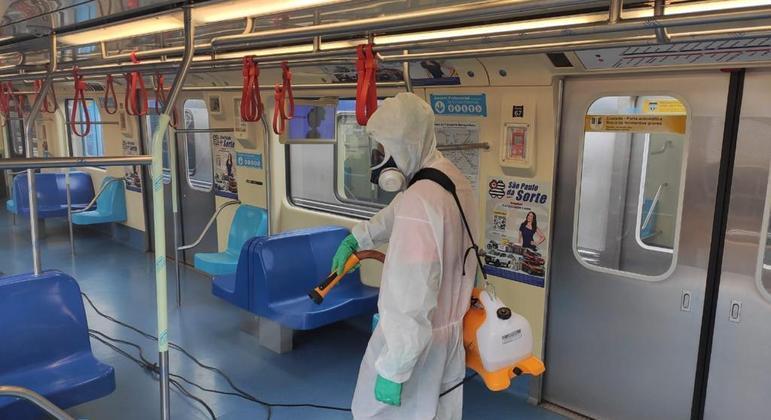 Produtos antivirais foram doados após passarem por testes e terem eficácia comprovada, segundo o Metrô