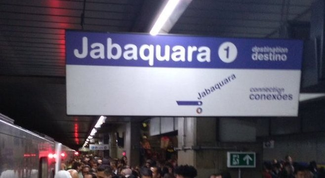 Trens das linhas Azul e Vermelha foram afetados