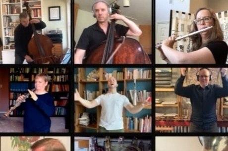 Músicos do Metropolitan Opera House tocam em casa