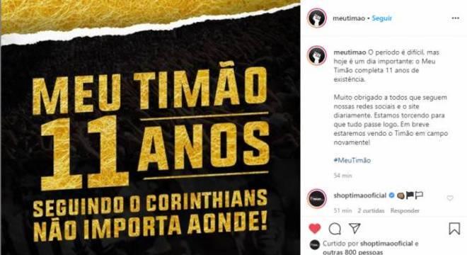 Depois de 11 anos, o Corinthians decide procurar a justiça contra o site