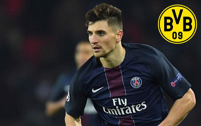 Meunier. Posição: Lateral direito. Idade: 28 anos. Clube atual: Paris Saint-Germain. Clube interessado: Dortmund.