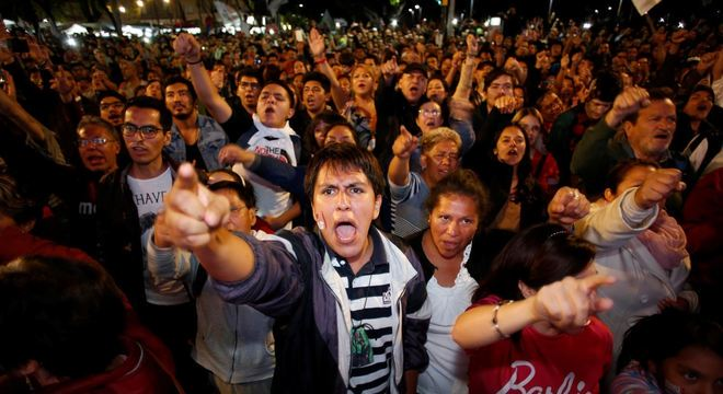Populares celebraram o resultado nas ruas da Cidade do México