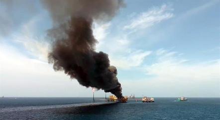 Plataforma no Mèxico pegou fogo
