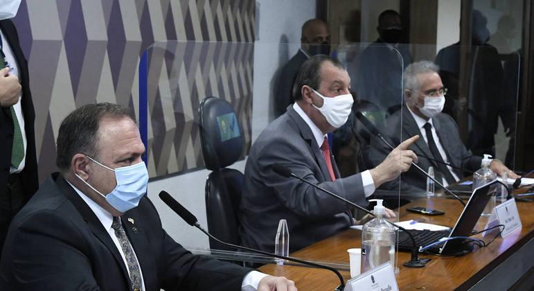 CPI vota nesta quarta requerimento de reconvocação de Pazuello.   Foto: Edilson Rodrigues/Agência Senado
