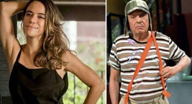 Miá Mello e Roberto Bolaños como Chaves