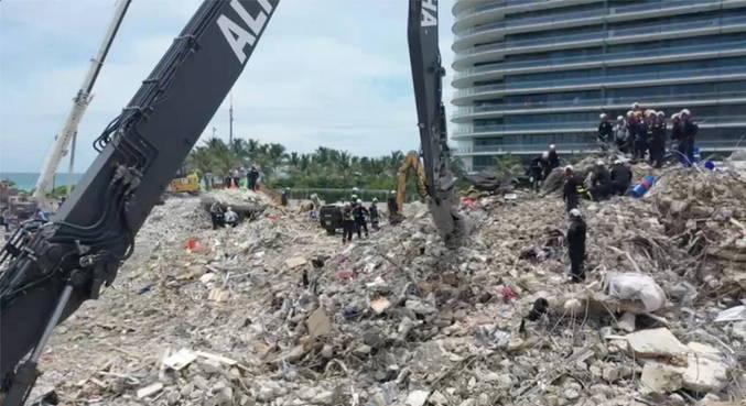 Autoridades em Miami identificaram 96 mortos em desabamento