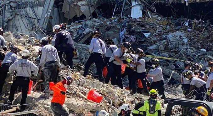 Esperança de encontrar sobreviventes em Miami diminui