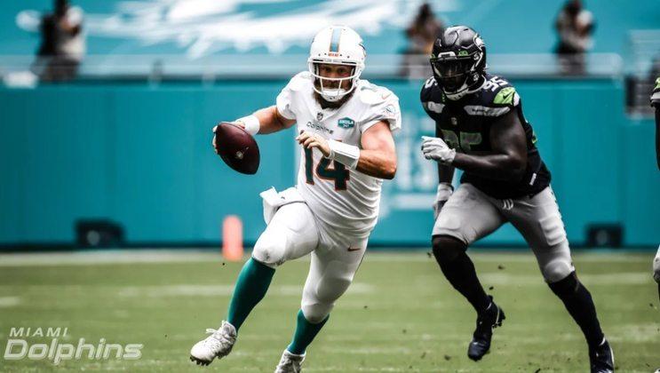 Miami Dolphins faz bom trabalho de reconstrução, mas com Ryan Fitzpatrick como QB o time não vai ir muito longe.
