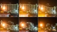 Restante de prédio que desabou em Miami é demolido com explosão