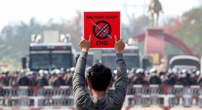 Militares em Mianmar bloquearam internet para evitar protestos