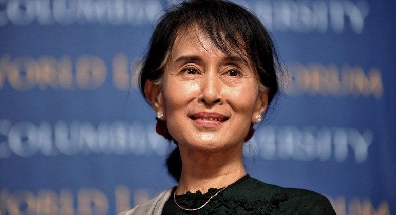 A ex-líder birmanesa Aung San Suu Kyi