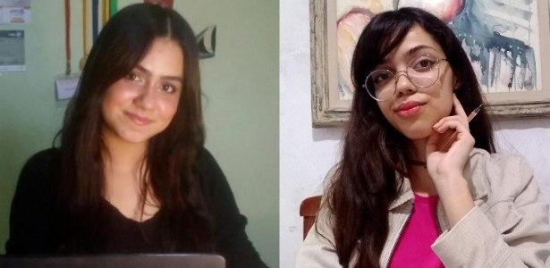 Micaele Gomes (à esquerda) e Laura Dias (à direita)