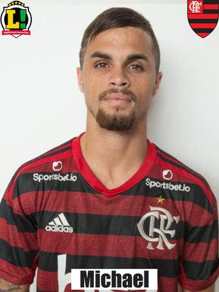 Michael - 6,5 - Entrou bem na segunda etapa, deu mais velocidade ao Flamengo e marcou o segundo gol rubro-negro, quando o Fluminense crescia na partida.