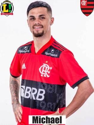 Michael - 7,0 - Principal nome do Flamengo na partida. Fez o gol da vitória e não parou de correr por um minuto. Ajudou na recomposição pela esquerda e tentou criar jogadas pela esquerda, apesar de não levar perigo na maioria delas.