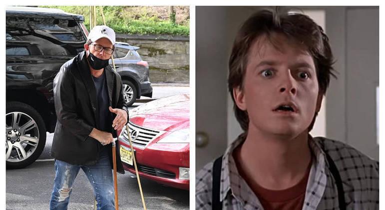 Michael J. Fox em passeio por Nova York
