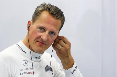 Schumacher ainda pilotava no ano de 2012