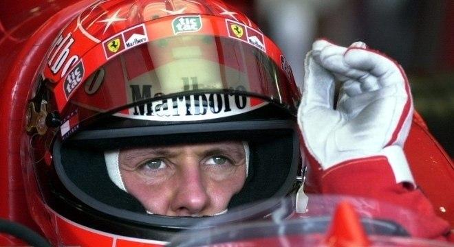 Schumacher na época em que pilotava para a Ferrari