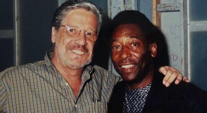 Michel Laurence e um amigo famoso