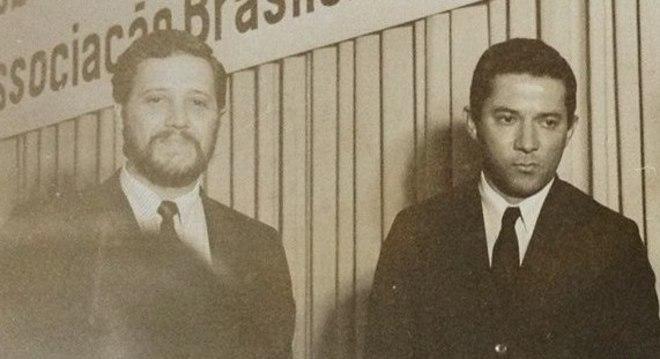 Michel Laurence e o Zé, em 1969