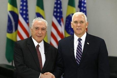 Temer e Pence se reuniram no Palácio do Planalto