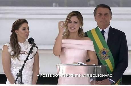 Michele Bolsonaro fez discurso em Libras