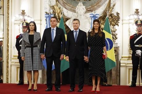 Michelle, Bolsonaro, Macri e Juliana Awada