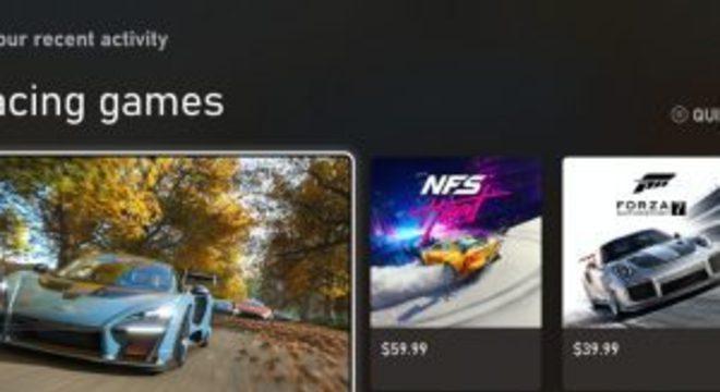 Microsoft mostra o novo visual da Microsoft Store no Xbox