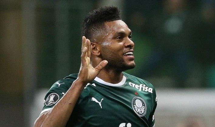 MIGUEL BORJA - O colombiano Miguel Borja chegou ao Palmeiras em 2018, com recepção de gala no aeroporto pela torcida, sendo a contratação mais cara da história do clube (cerca de R$ 44 milhões). Em 112 jogos, ele marcou 36 gols, mas não convenceu e está emprestado ao Junior Barranquilla