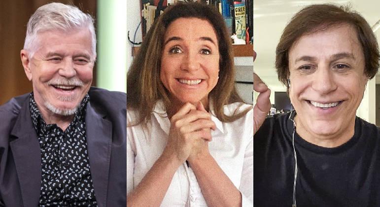 Miguel Falabella, Marisa Orth e Tom Cavalcante